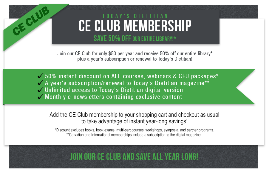 Join our CE Club and save!