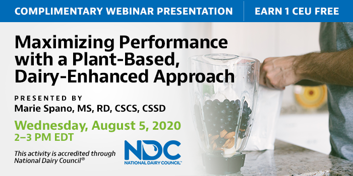 Free webinar from the National Dairy Council