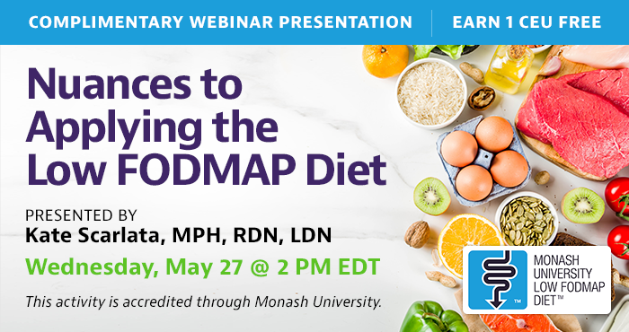 A complementary webinar on the FODMAP diet