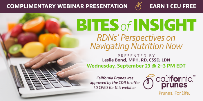 Complimentary Webinar on Nutrition in a Pandemic World