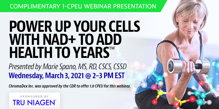 Complementary webinar on NAD+